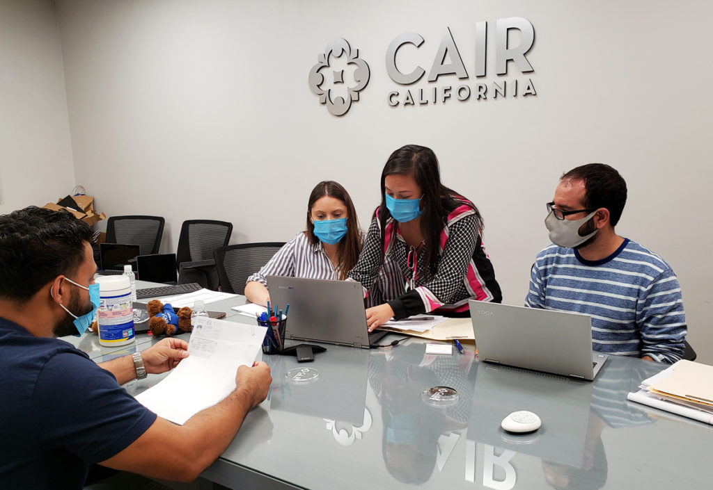 CAIR-LA attorneys assisting Afghan community members with humanitarian parole applications.