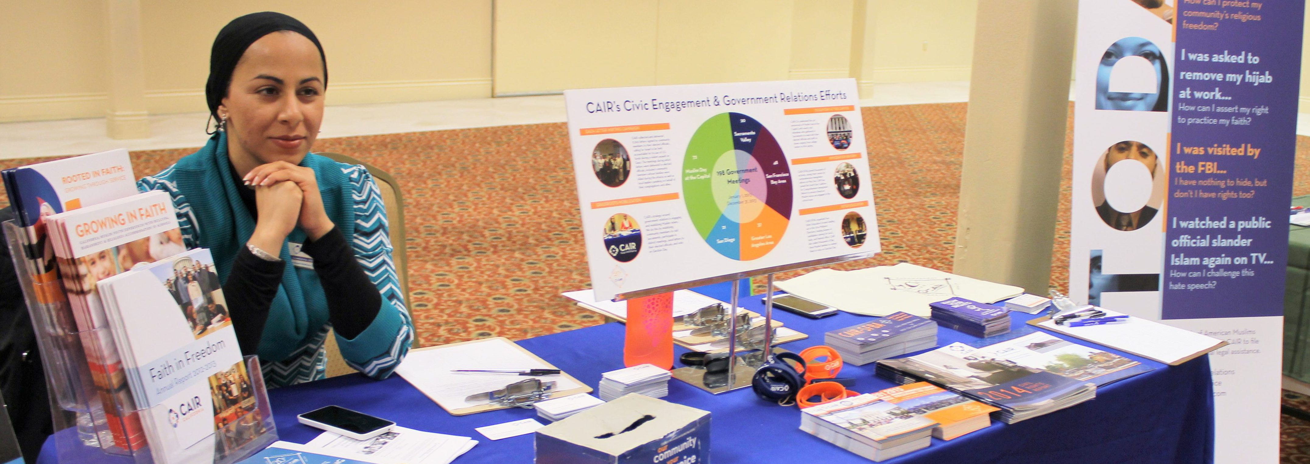 CAIR-SFBA Government Relations Coordinator, Sameena Usman, Tabling At A Community Event