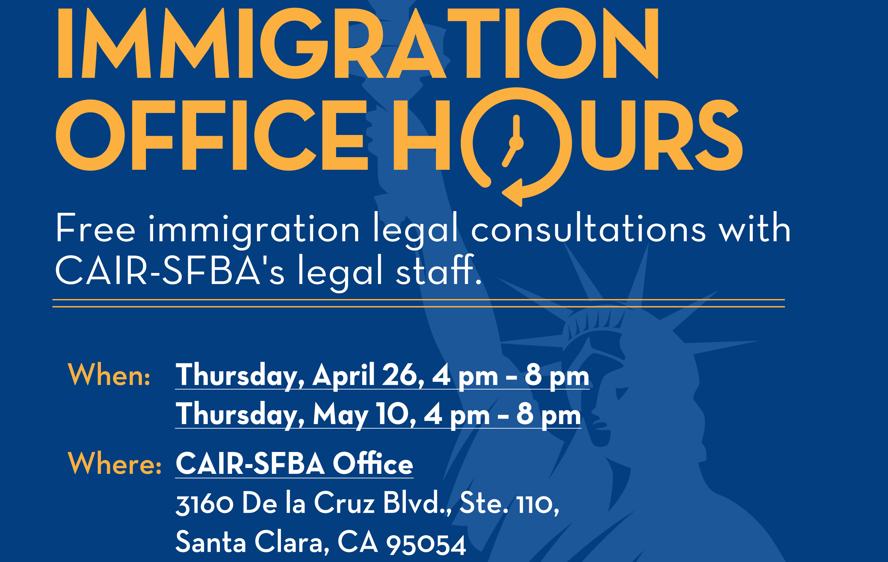 Immigration Office Hours Poster