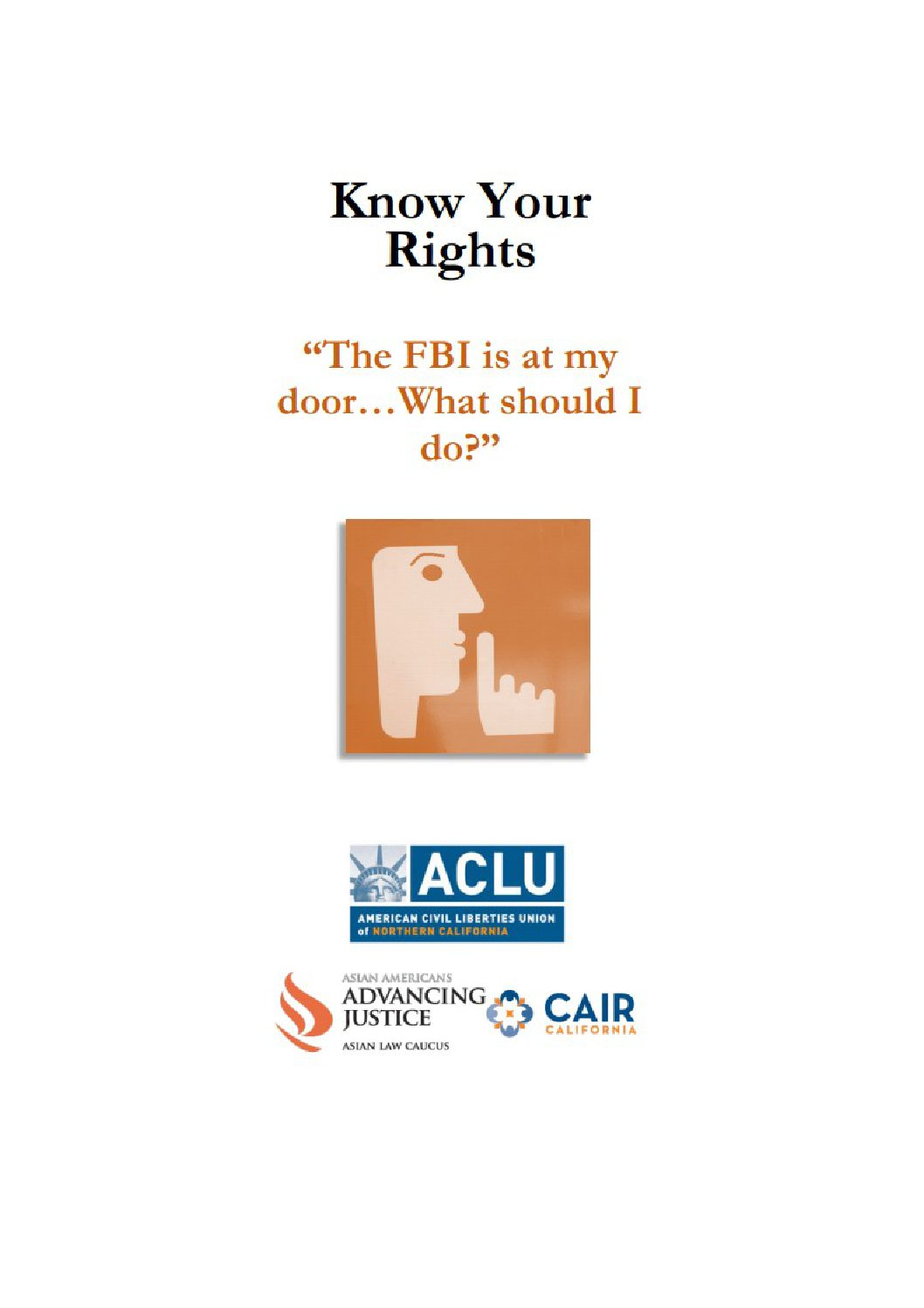 Know Your Rights In Fbi Law Enforcement Interactions Cair