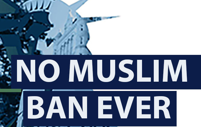 #StandWithMuslims No Muslim Ban Ever Rally